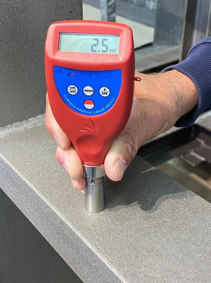 Surface roughness tester for sandblasting