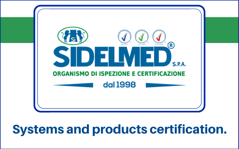 Sidelmed Spa systems and products certification evidenza