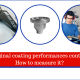 Original coating performances control