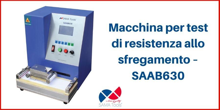Macchina per test di resistenza allo sfregamento – SAAB630
