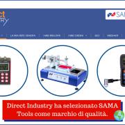Direct Industry ha selezionato SAMA Tools come marchio di qualità