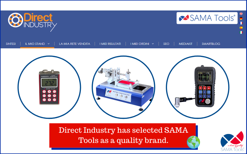 Direct Industry has selected SAMA Tools as a quality brand